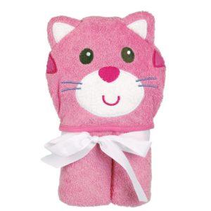 Baby Badcape katt Rosa