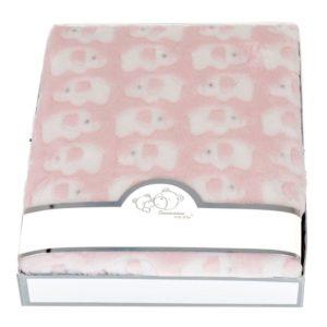 Babyfilt Elefant Rosa