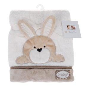 Babyfilt Kanin Beige