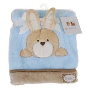 Babyfilt Kanin Blå