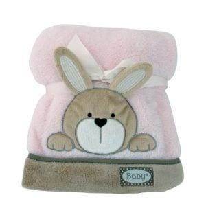 Babyfilt Kanin Rosa