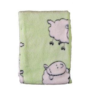 Babyfilt Lamm Grön