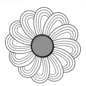 Blomma  Svart