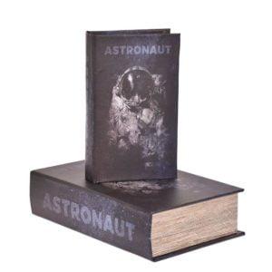 Bokförvaring Astronomi 2 set Svart/Vit
