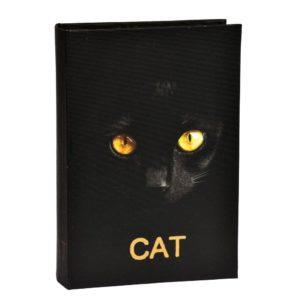 Bokförvaring Cat Svart/Vit