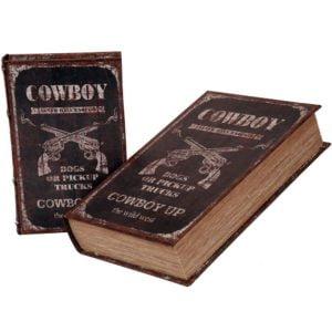 Bokförvaring Cowboy 2 set Mörkbrun