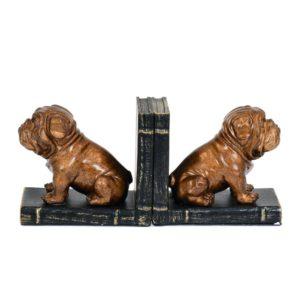Bokstöd Hund 2 set Antikkoppar