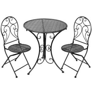 Bord Med 2 stolar Grå