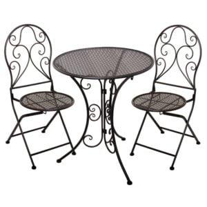 Bord Stol café 3 set Svart