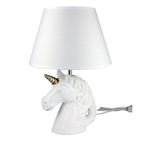 Bordslampa Enhörning Vit