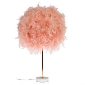Bordslampa Fjäder Rosa