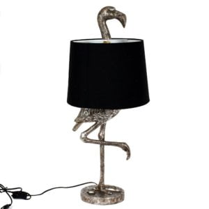 Bordslampa Flamingo Silver/Svart
