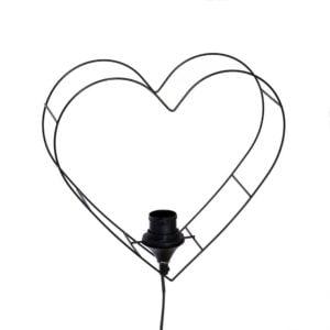 Bordslampa Hjärta Svart