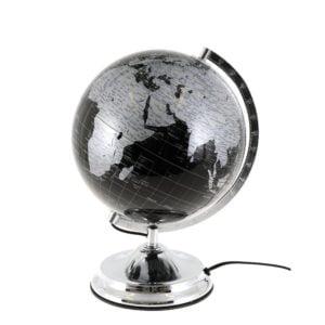 Bordslampa Jordglob Silver/Svart