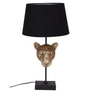 Bordslampa Leopard Antikmässing