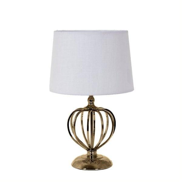 Bordslampa Maria Mässing/Vit