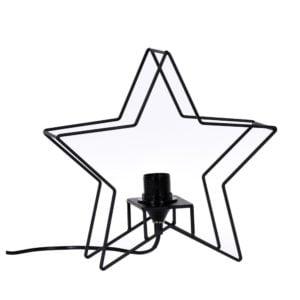 Bordslampa Stjärna Svart