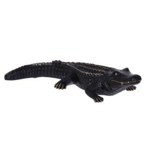 Dekoration Alligator Mässing/Svart