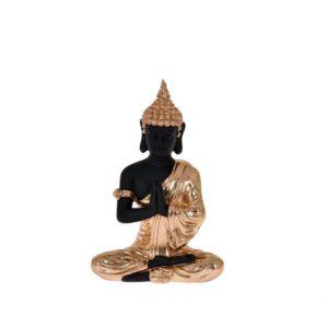Dekoration Buddha Guld/Svart