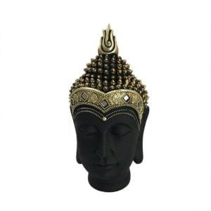 Dekoration Buddha Mässing/Svart