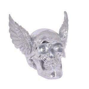 Dekoration Dödskalle Silver