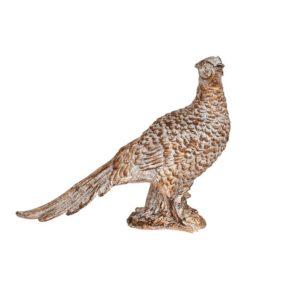 Dekoration Fågel Antikguld