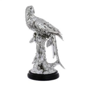 Dekoration Fågel Silver