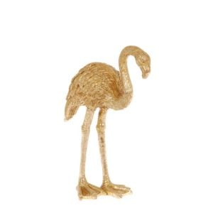 Dekoration Flamingo Guld