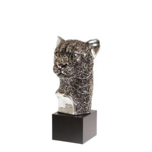 Dekoration Leopard Silver
