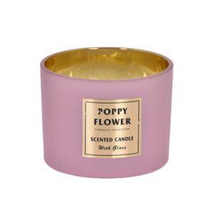 Doftljus Poppy flower Rosa