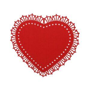 Duk Filt hjärta Röd