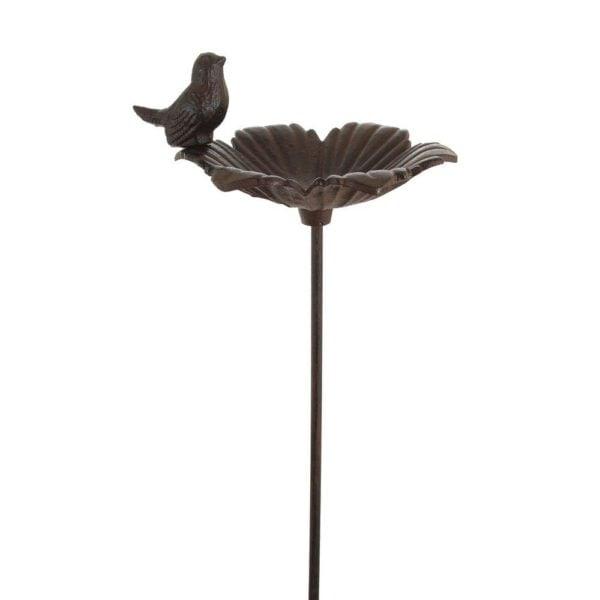 Fågelbad Lund ensam fågel Antikbrun