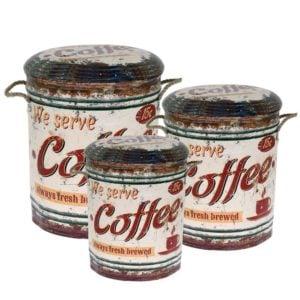 Förvaringslåda Coffee 3 set Multi