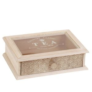 Förvaringslåda Tea Natur/Vit