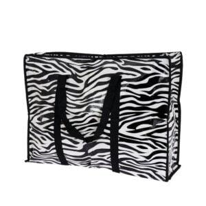 Förvaringspåse Zebra Svart/Vit