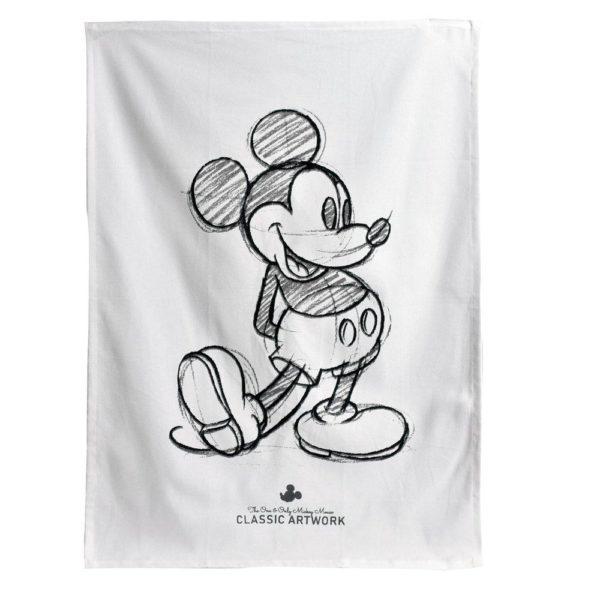 Kökshandduk Mickey mouse Vit/Svart