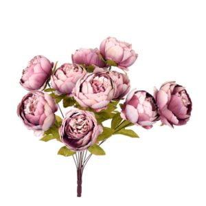 Konstväxt Bukett pion Rosa
