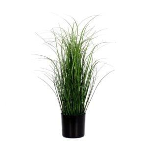 Konstväxt Gräs i kruka Grön/Svart