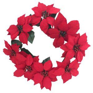 Krans Julstjärna Röd