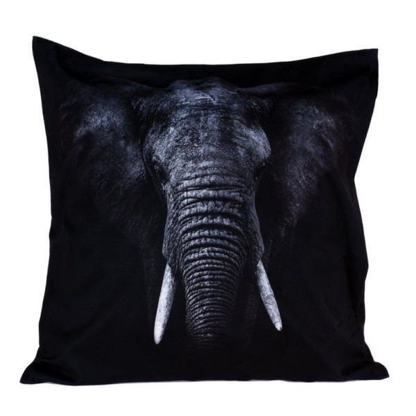 Kudde Elefant Svart