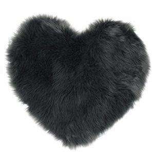 Lammskinn Hjärta Grå