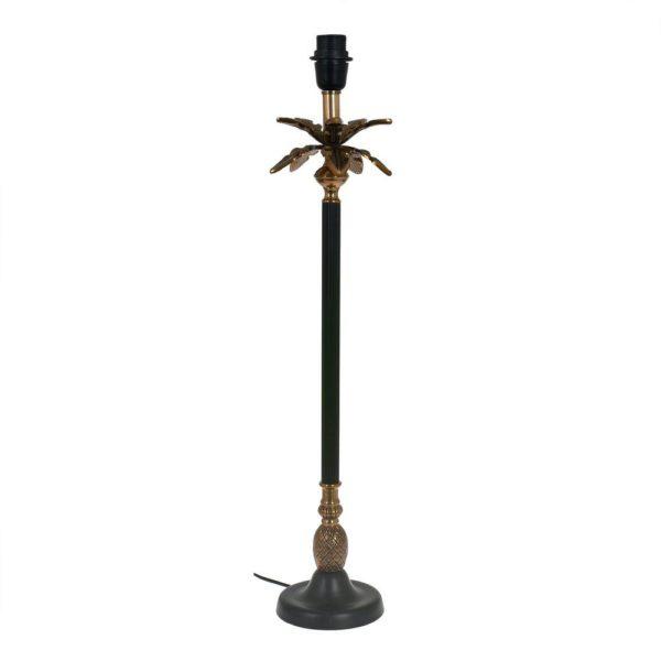 Lampfot Löv Svart/Antikmässing