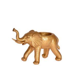 Ljushållare Elefant Guld