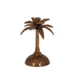 Ljusstake Palm Antikmässing