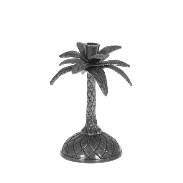 Ljusstake Palm Antiksilver