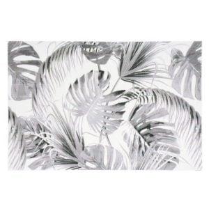 Palmblad  Svart/Vit