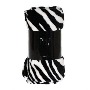 Pläd Zebra Svart/Vit