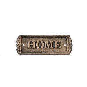 Skylt Home Svart/Guld