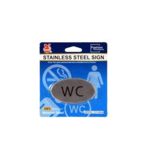Skylt Wc Silver