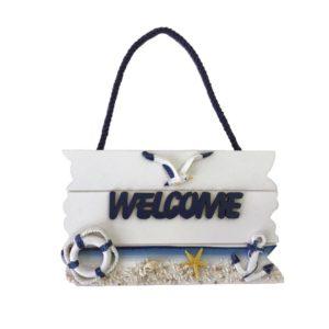 Skylt Welcome Vit/Blå